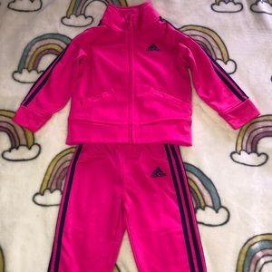 Adidas girl sweater and jogger set